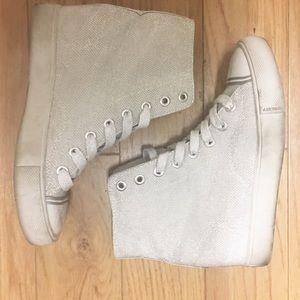🆕 Airwalk Silver Glitter Hightop Sneakers